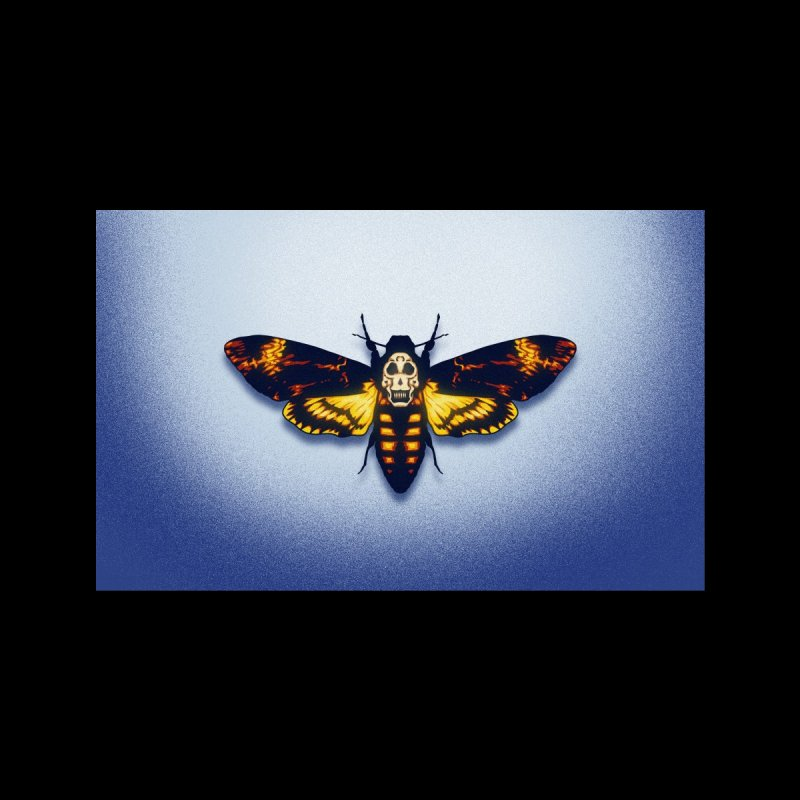 The Death's-head Moth (adult sizes) Accessories Greeting Card by Glitch Goods by Rob Sheridan