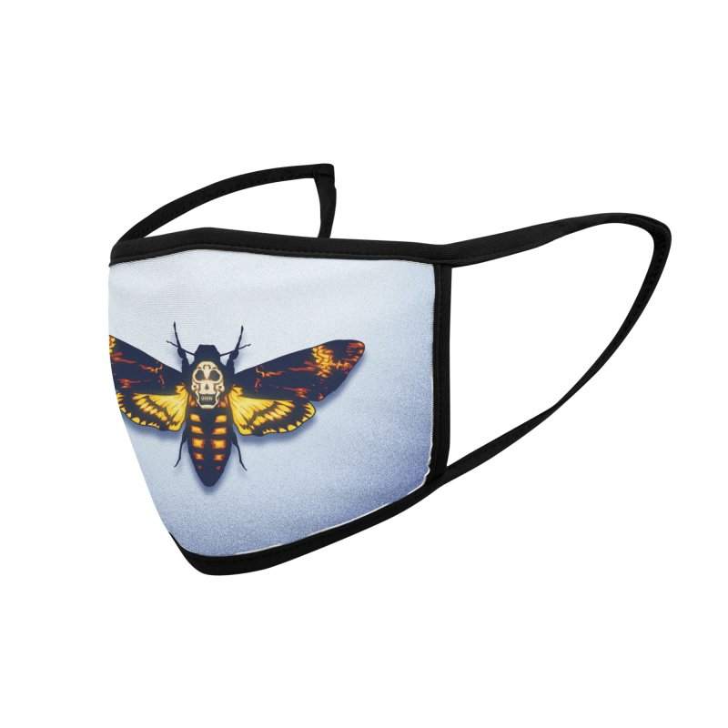 The Death's-head Moth (youth sizes) Accessories Face Mask by Glitch Goods by Rob Sheridan