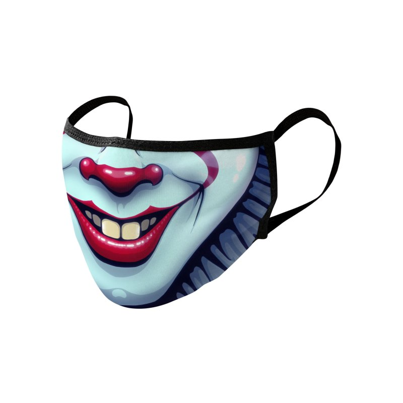 Evil Clown (smiling) (adult sizes) Accessories Face Mask by Glitch Goods by Rob Sheridan