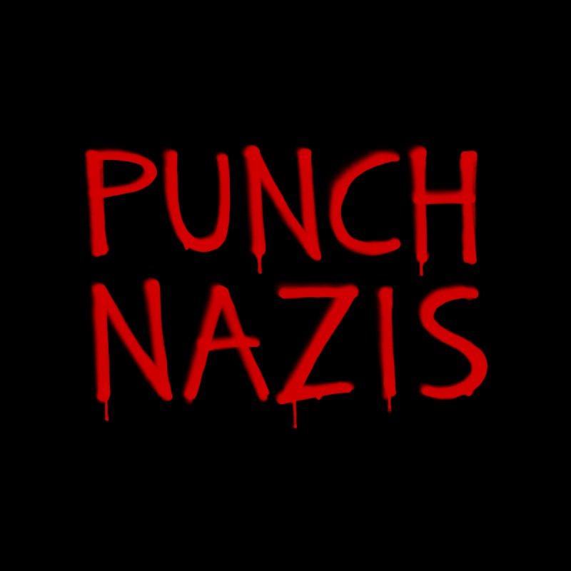 PUNCH NAZIS Men's T-Shirt by Glitch Goods by Rob Sheridan
