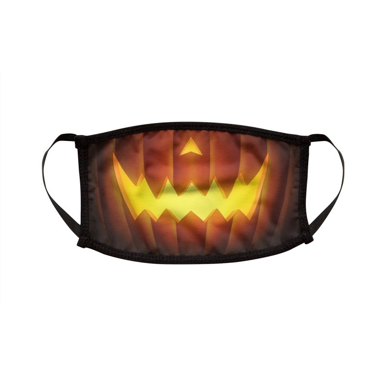 Jack-O-Lantern Accessories Face Mask by Glitch Goods by Rob Sheridan