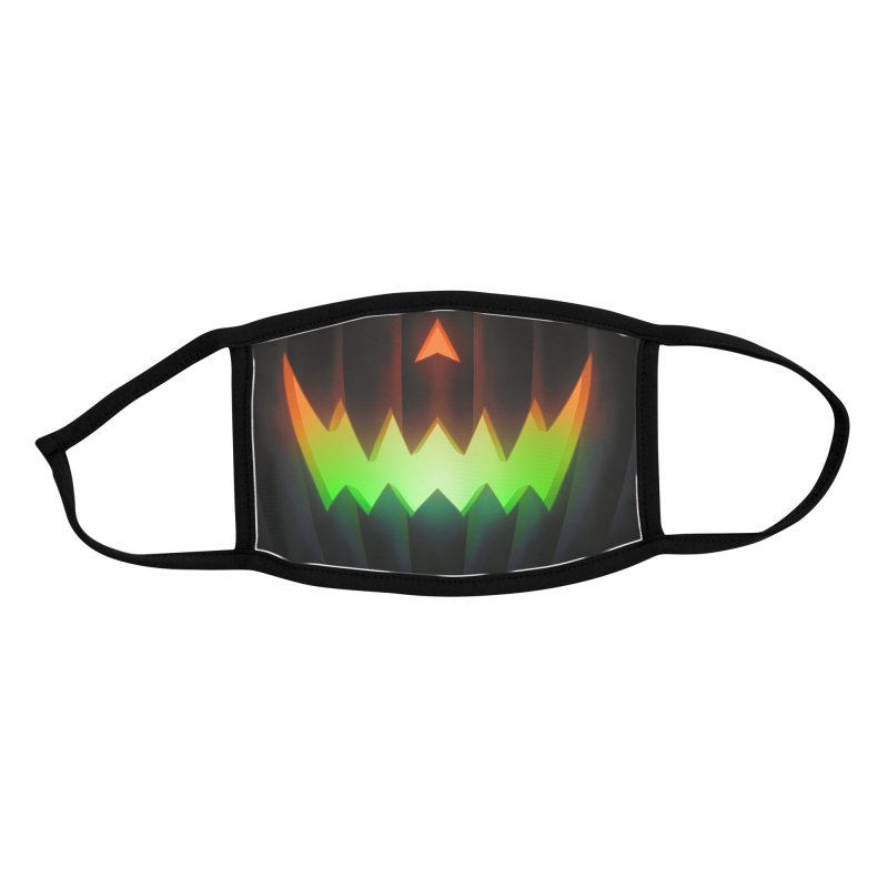 Jack-O-Lantern (Neon Halloween) youth mask Accessories Face Mask by Glitch Goods by Rob Sheridan