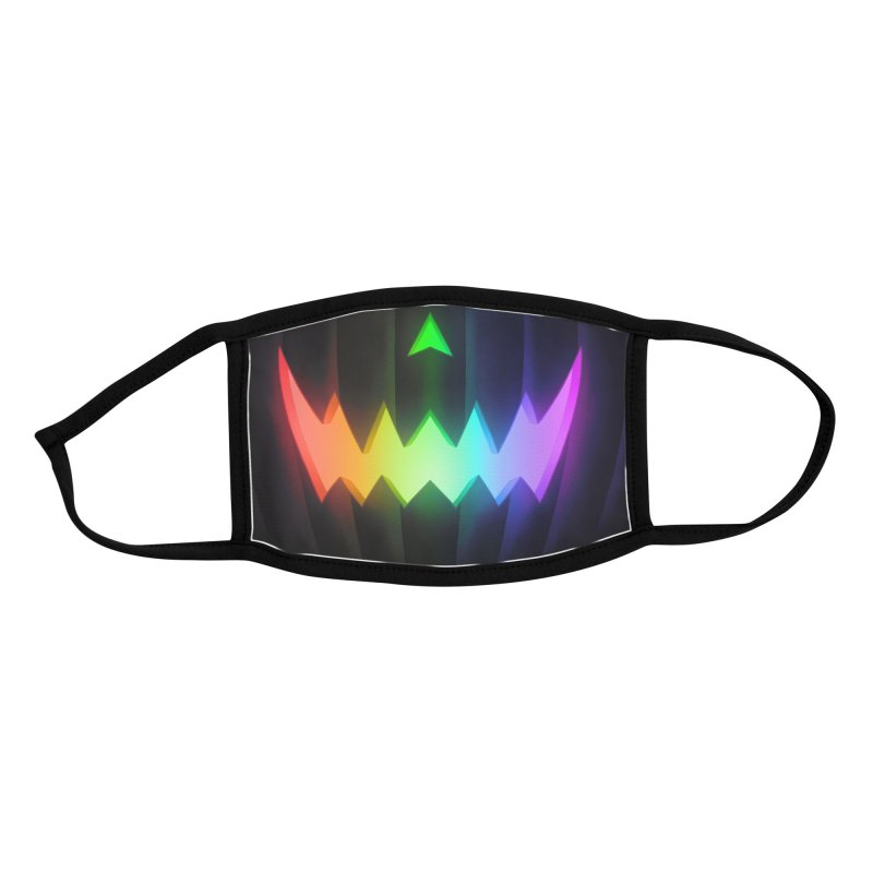 Jack-O-Lantern (Rainbow Pride) youth mask Accessories Face Mask by Glitch Goods by Rob Sheridan