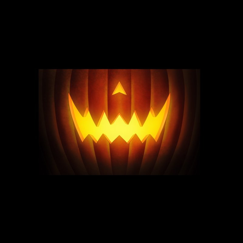 Jack-O-Lantern youth mask Accessories Face Mask by Glitch Goods by Rob Sheridan