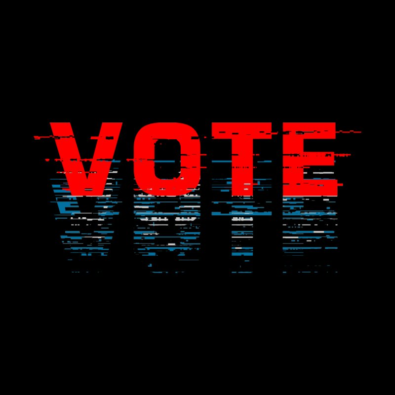 VOTE 2020 Men's T-Shirt by Glitch Goods by Rob Sheridan