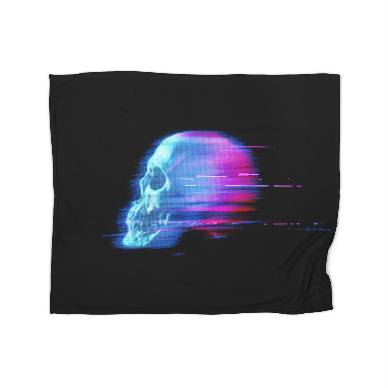 Glitch Skull (Vaporwave) Home Decor Blanket by Glitch Goods by Rob Sheridan
