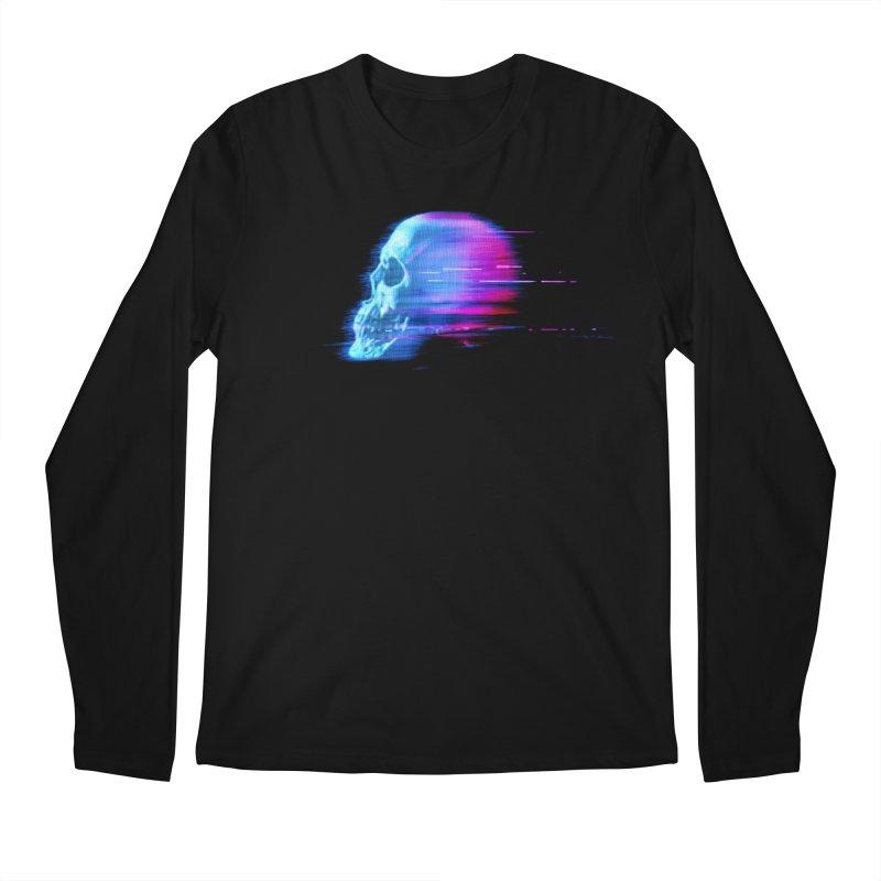 Glitch Skull (Vaporwave) Men's Longsleeve T-Shirt by Glitch Goods by Rob Sheridan