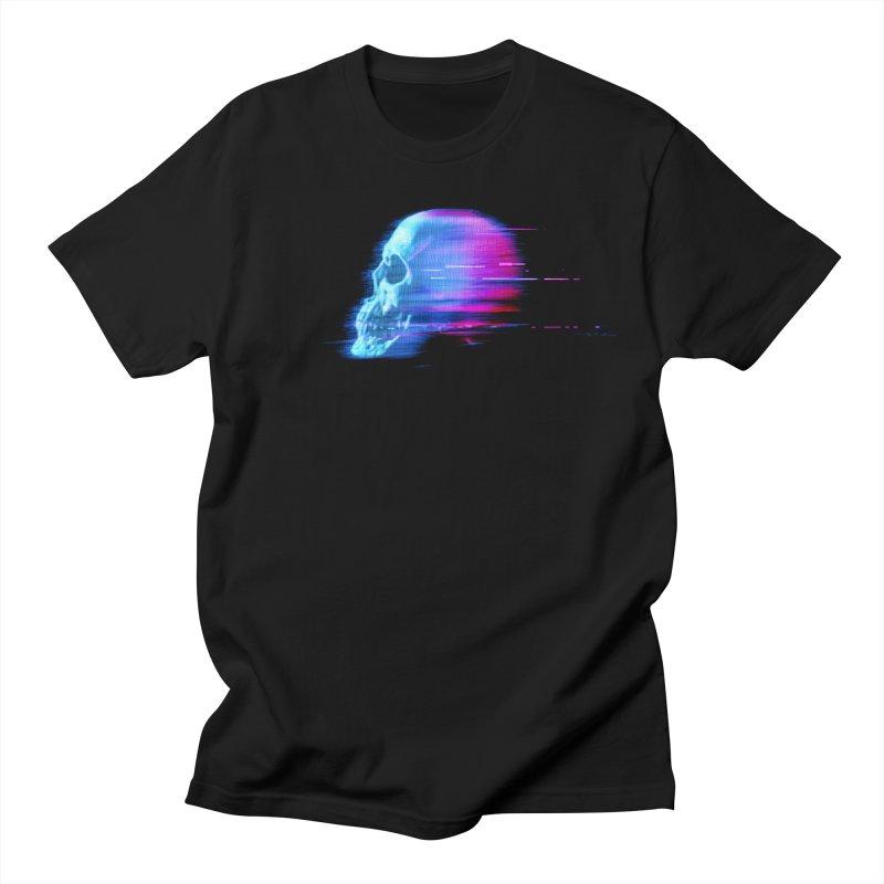 Glitch Skull (Vaporwave) Men's T-Shirt by Glitch Goods by Rob Sheridan