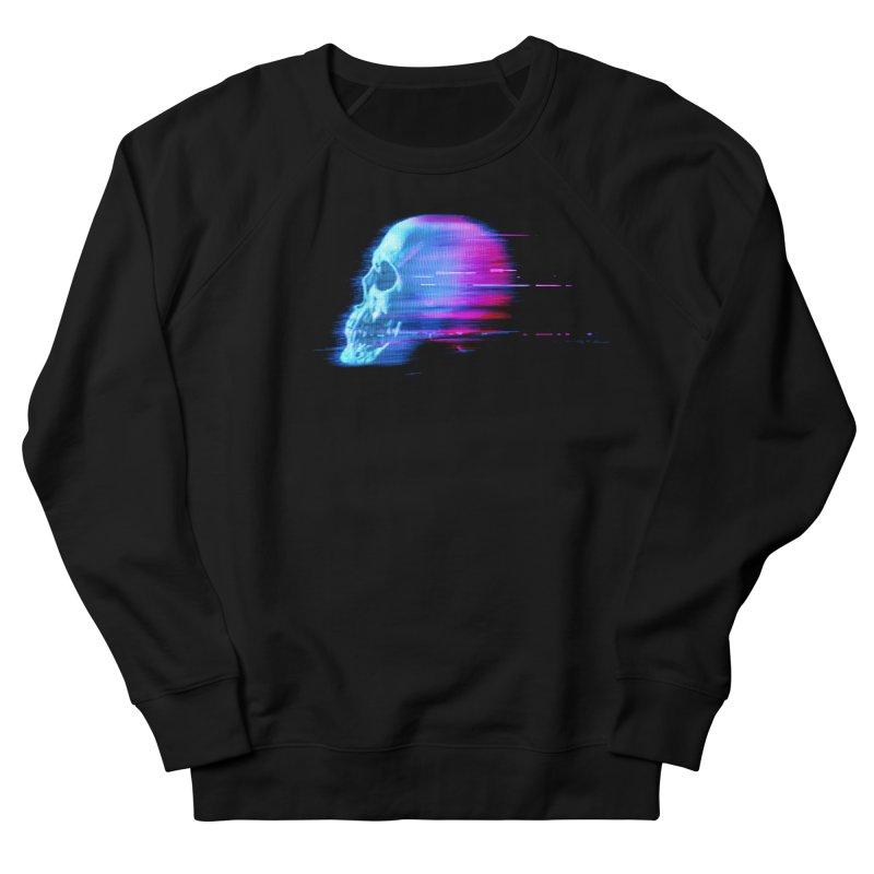Glitch Skull (Vaporwave) Men's Sweatshirt by Glitch Goods by Rob Sheridan