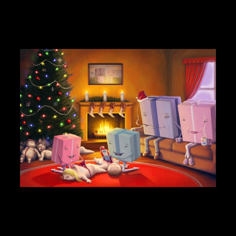 Presents Opening Children Home Blanket by Glitch Goods by Rob Sheridan