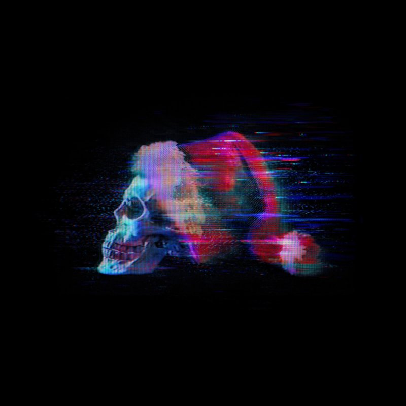 Glitch Skull Santa Accessories Face Mask by Glitch Goods by Rob Sheridan