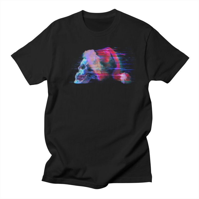 Glitch Skull Santa Men's T-Shirt by Glitch Goods by Rob Sheridan