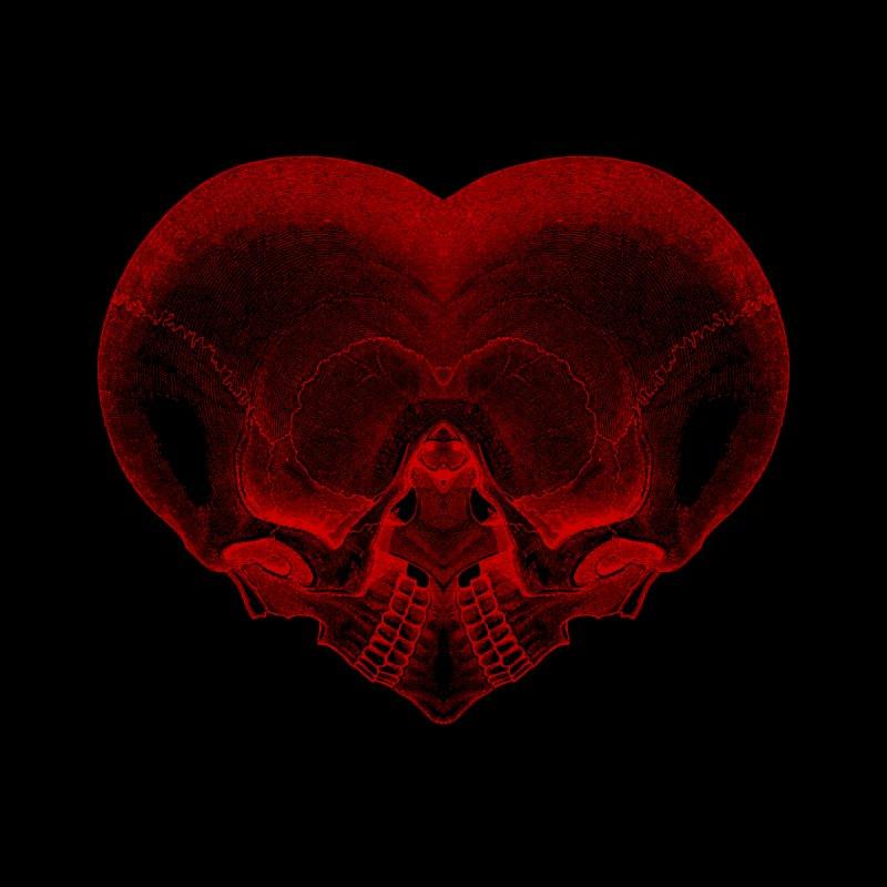 Heart of Bone (red) Women's T-Shirt by Glitch Goods by Rob Sheridan