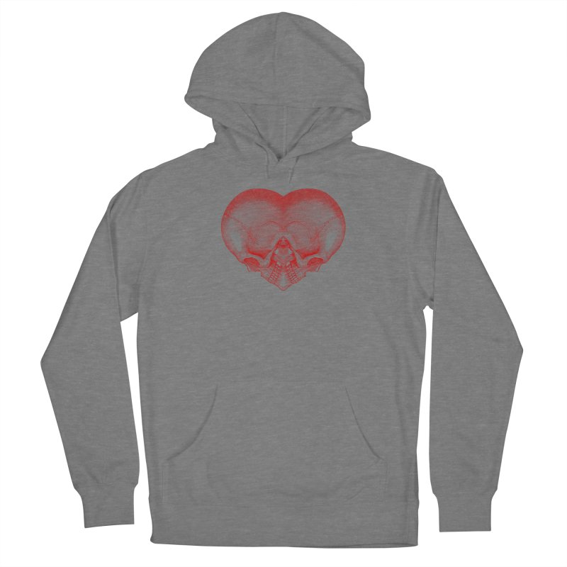 Heart of Bone (red) Women's Pullover Hoody by Glitch Goods by Rob Sheridan