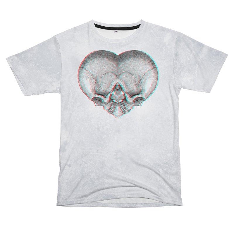 Heart of Bone (RGB offset) Men's Cut & Sew by Glitch Goods by Rob Sheridan