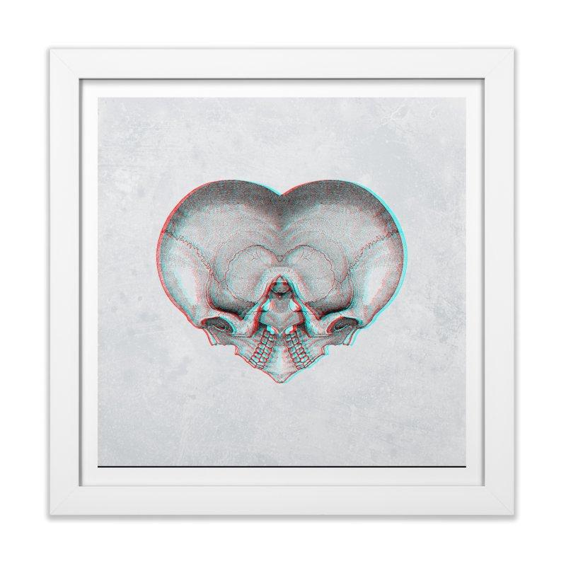 Heart of Bone (RGB offset) Home Framed Fine Art Print by Glitch Goods by Rob Sheridan