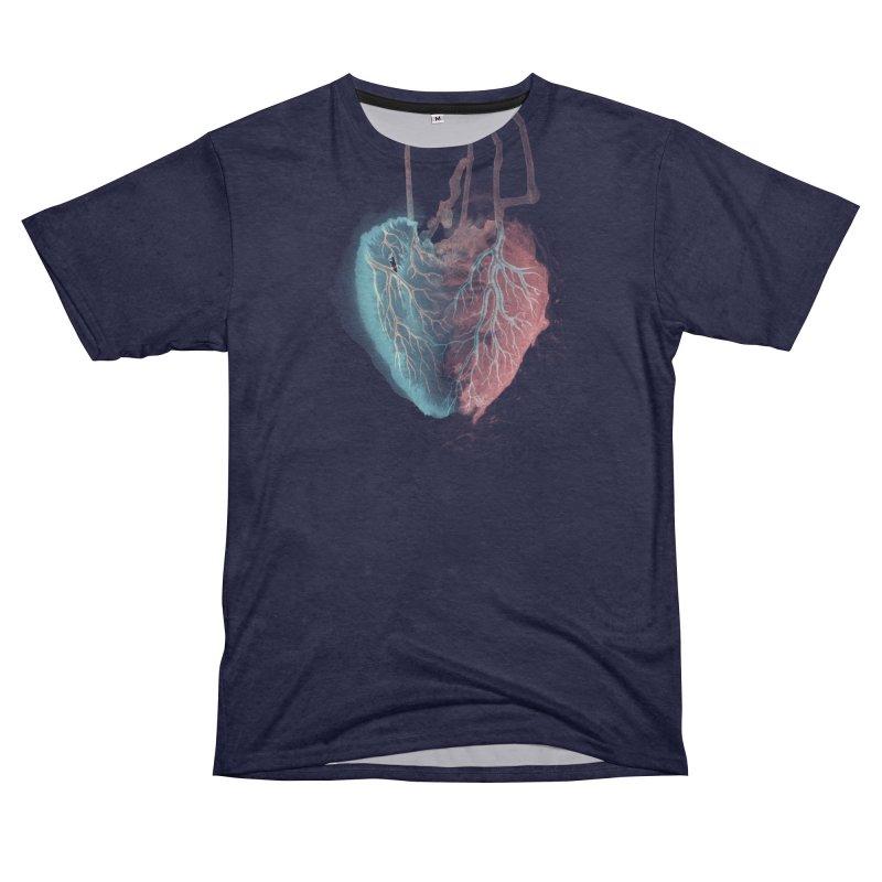 Heart (dark) Men's Cut & Sew by Glitch Goods by Rob Sheridan
