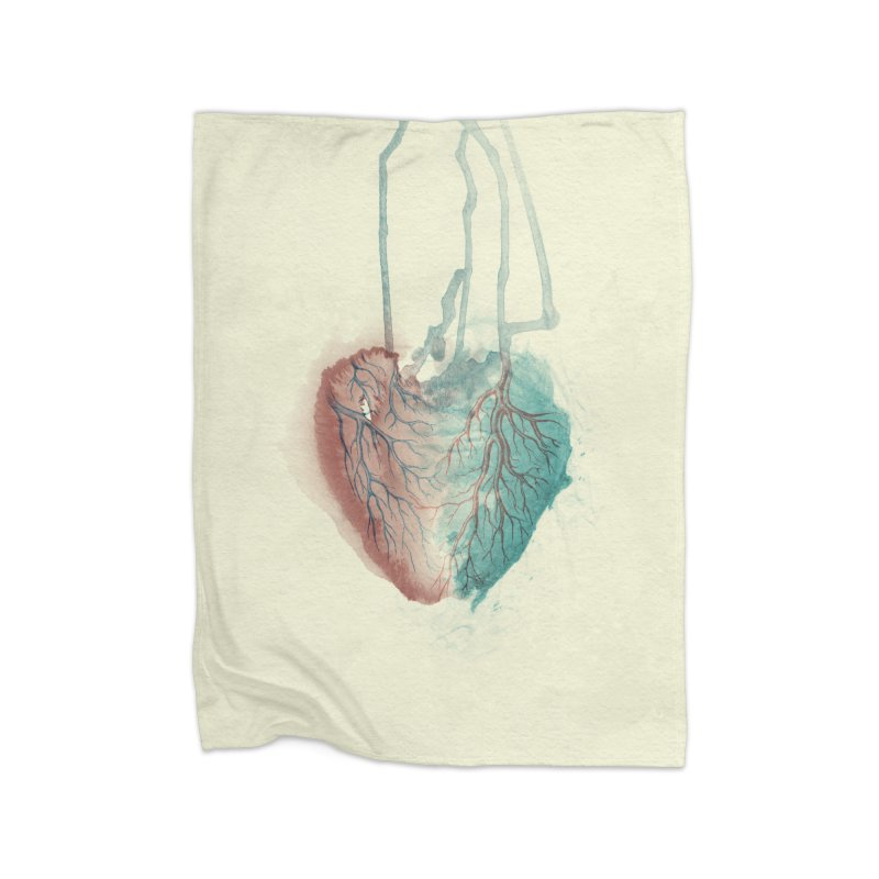 Heart (light) Home Decor Blanket by Glitch Goods by Rob Sheridan