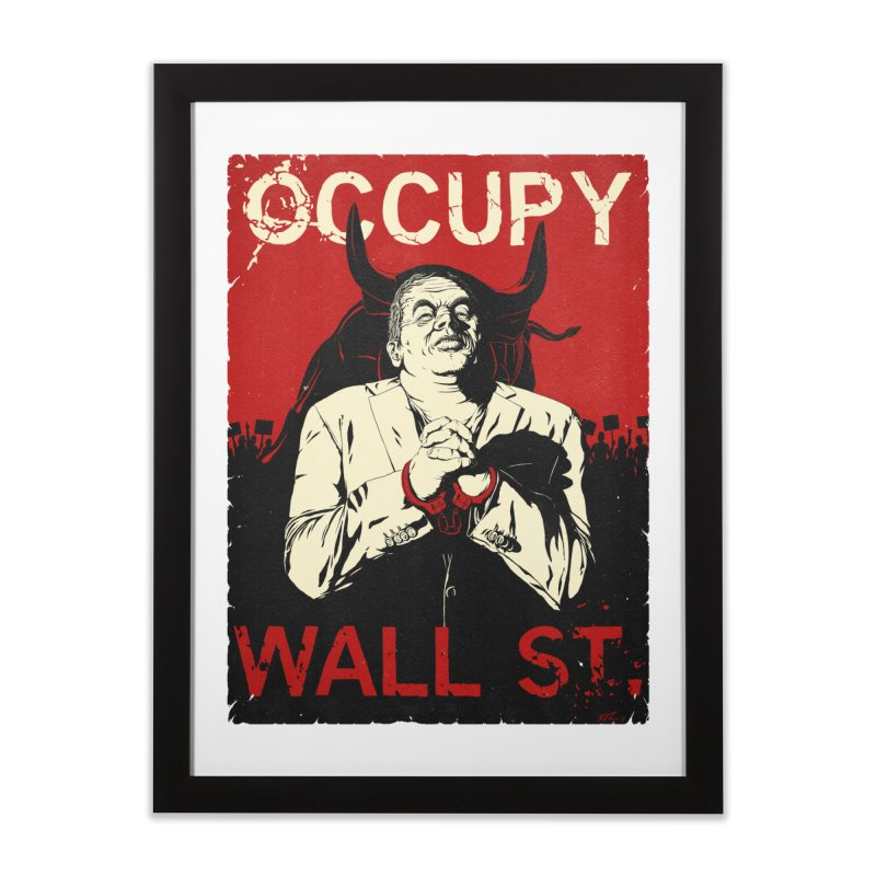 Occupy Wall Street Home Framed Fine Art Print by Glitch Goods by Rob Sheridan