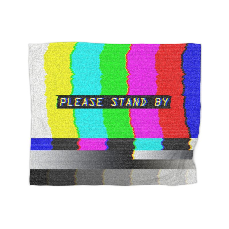 SMPTE TV Color Bars: Please Stand By Home Decor Blanket by Glitch Goods by Rob Sheridan