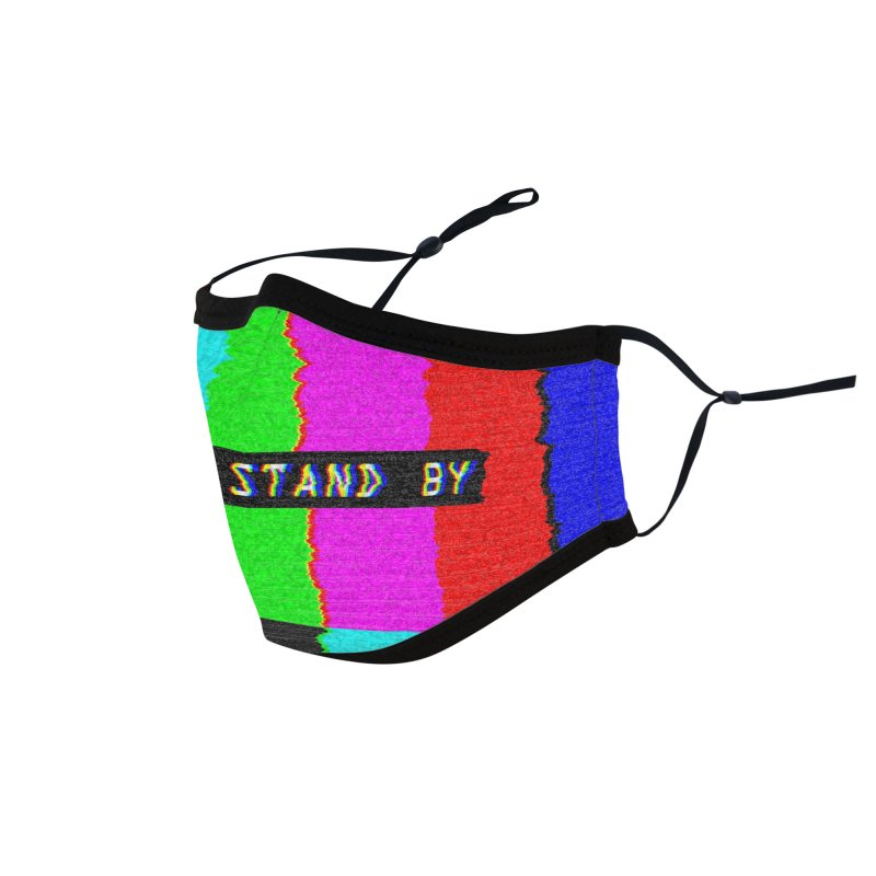 SMPTE TV Color Bars: Please Stand By Accessories Face Mask by Glitch Goods by Rob Sheridan