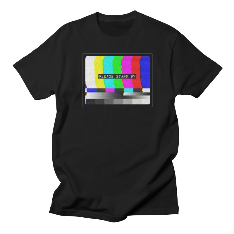 SMPTE TV Color Bars: Please Stand By Men's T-Shirt by Glitch Goods by Rob Sheridan