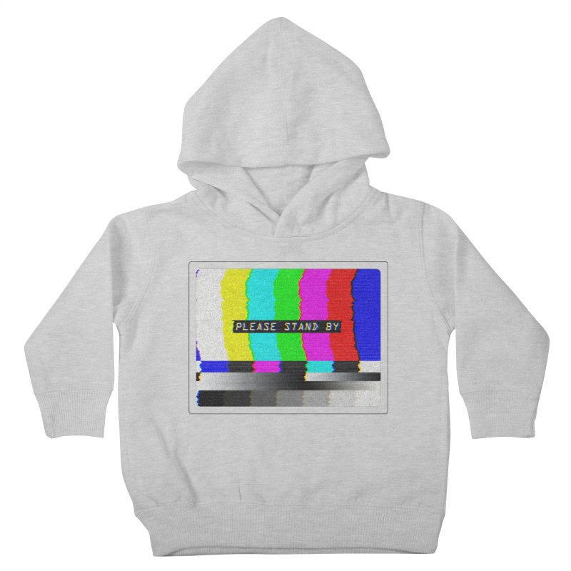 SMPTE TV Color Bars: Please Stand By Kids Toddler Pullover Hoody by Glitch Goods by Rob Sheridan