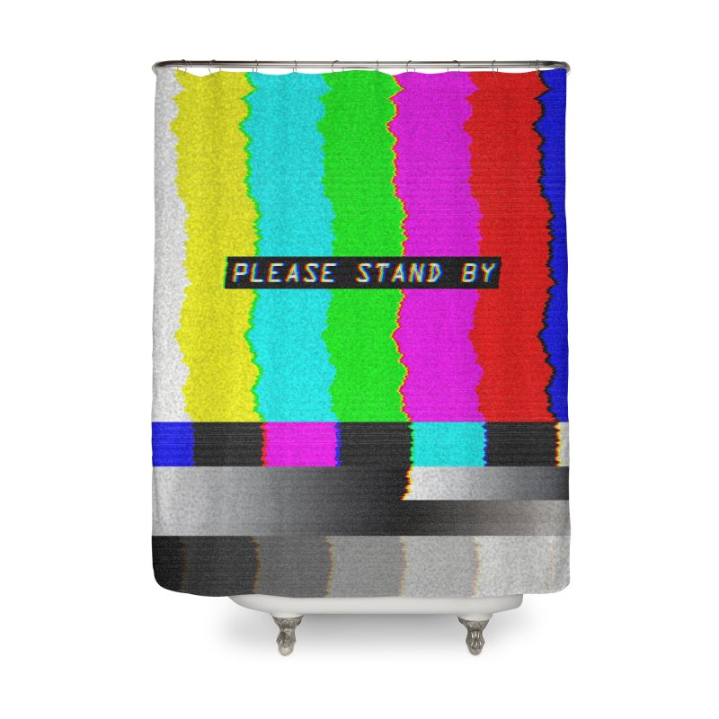 SMPTE TV Color Bars: Please Stand By Home Decor Shower Curtain by Glitch Goods by Rob Sheridan