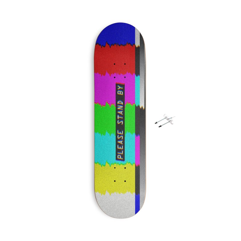 SMPTE TV Color Bars: Please Stand By Accessories & Masks Skateboard by Glitch Goods by Rob Sheridan