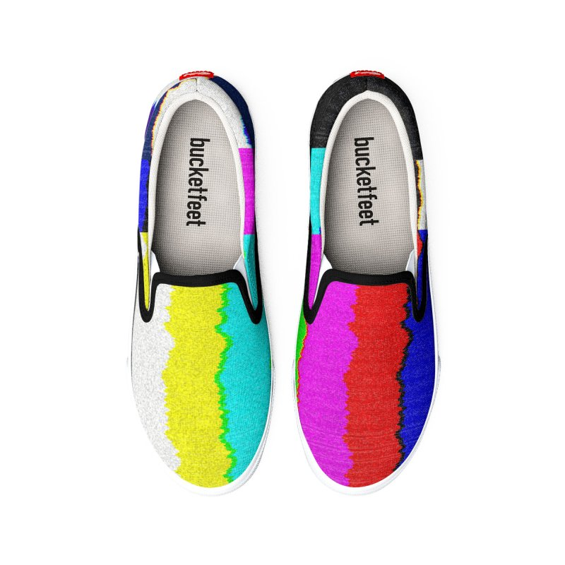 SMPTE TV Color Bars: Please Stand By Men's Shoes by Glitch Goods by Rob Sheridan