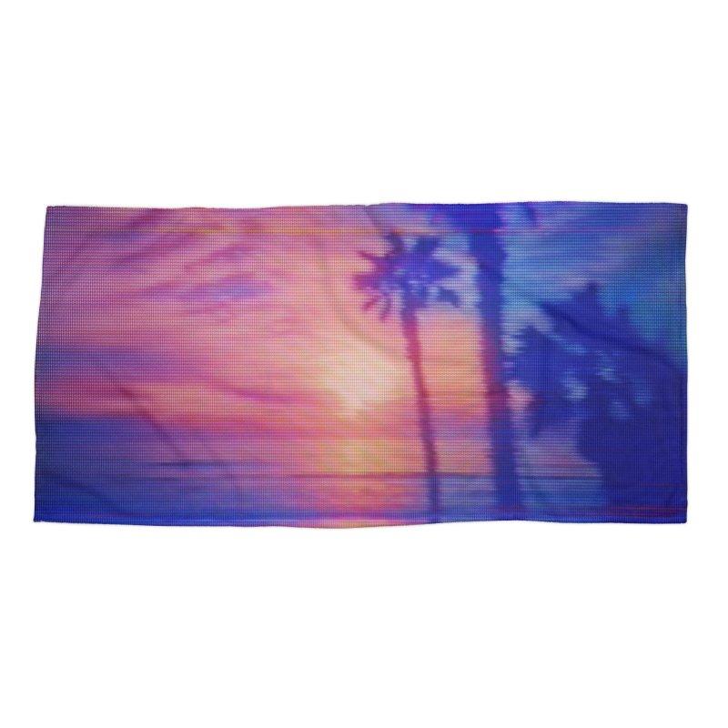 Vapor Beach Accessories & Masks Beach Towel by Glitch Goods by Rob Sheridan
