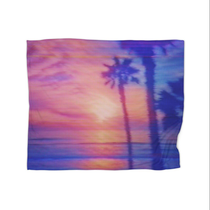 Vapor Beach Home Decor Blanket by Glitch Goods by Rob Sheridan