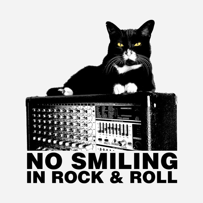 NO SMILING IN ROCK & ROLL Men's T-Shirt by Glitch Goods by Rob Sheridan