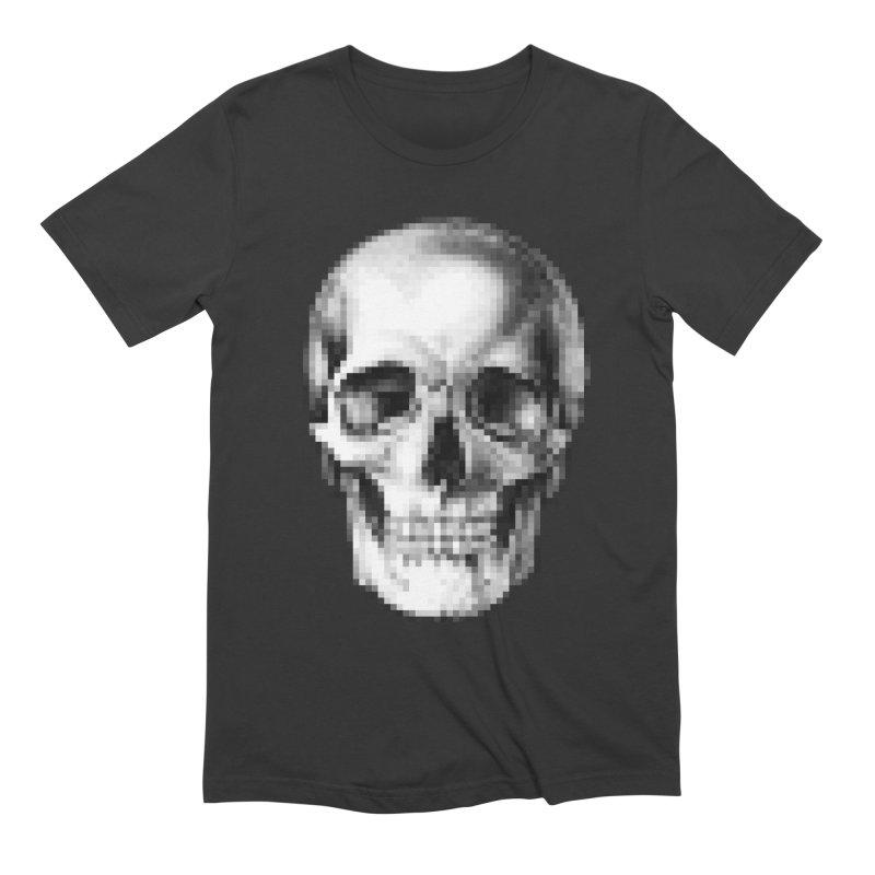 Pop Skullture: Pixel Men's T-Shirt by Glitch Goods by Rob Sheridan