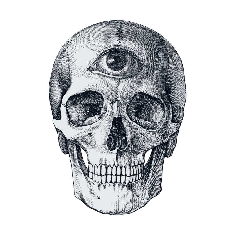 Pop Skullture: Third Eye Men's T-Shirt by Glitch Goods by Rob Sheridan
