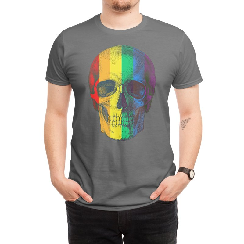 Pop Skullture: Pride Flag Men's T-Shirt by Glitch Goods by Rob Sheridan