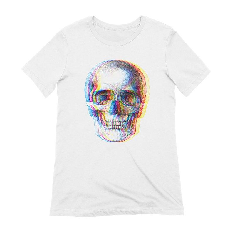 Pop Skullture: CMYK Women's T-Shirt by Glitch Goods by Rob Sheridan
