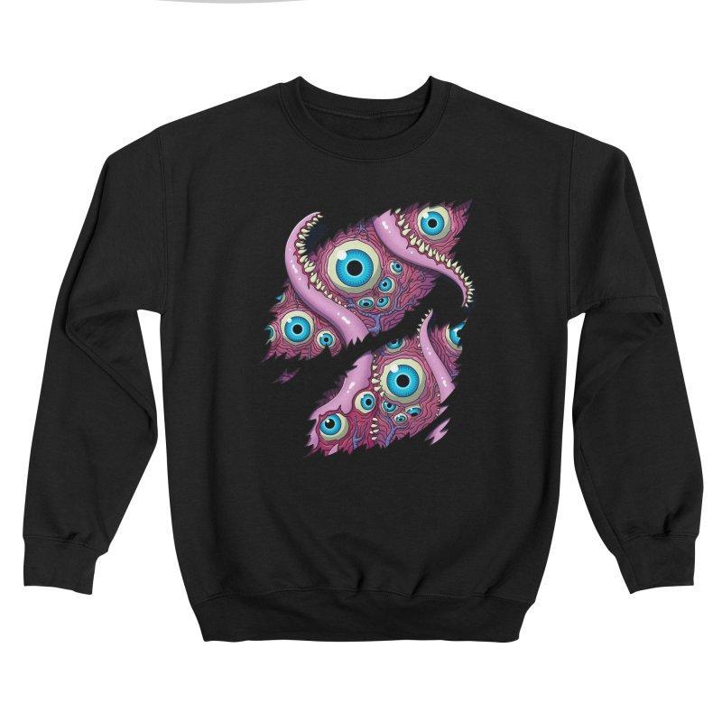 Tentacle Terror! (Pink) Men's Sweatshirt by Glitch Goods by Rob Sheridan