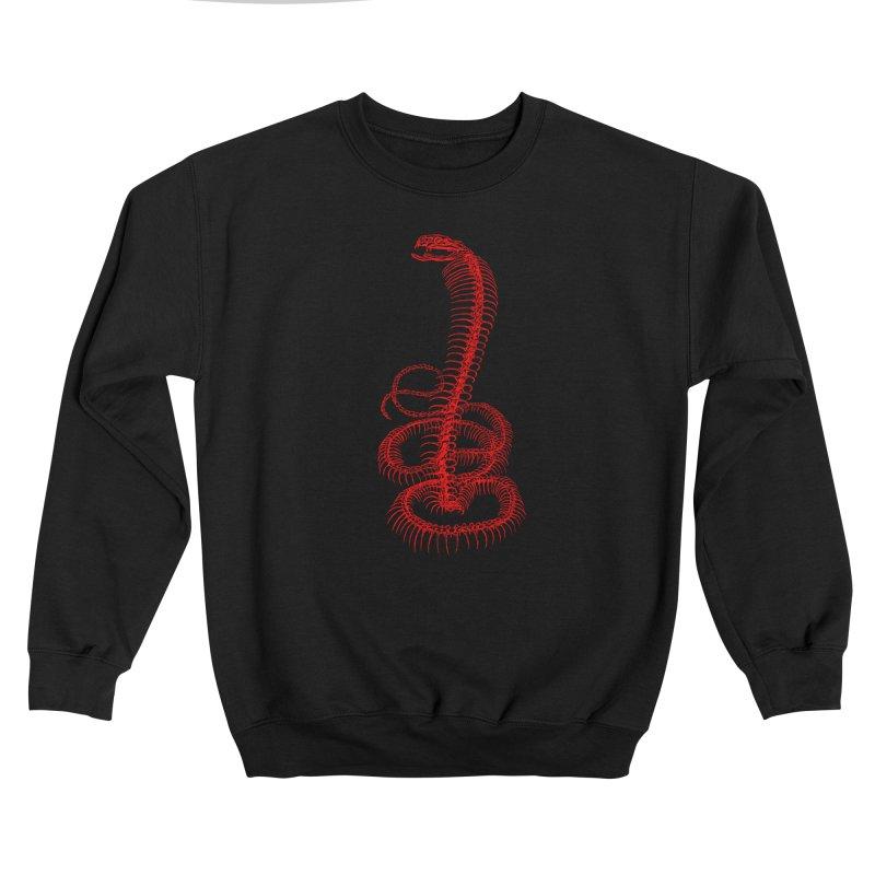 Snake Skeleton (Red) Men's Sweatshirt by Glitch Goods by Rob Sheridan