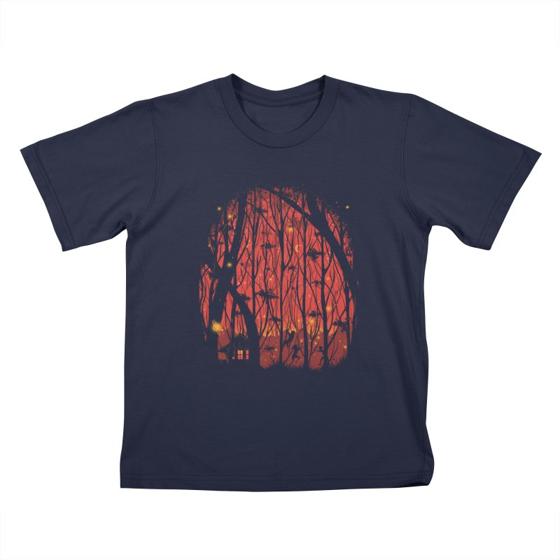 Fireflies Kids T-Shirt by Robson Borges