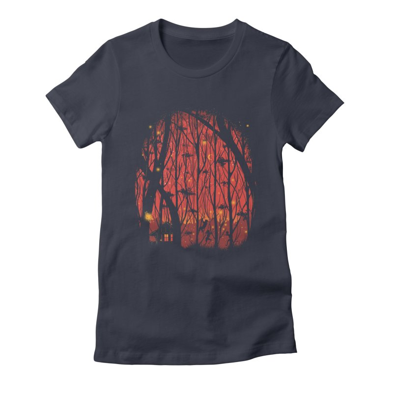 Fireflies Women's Fitted T-Shirt by Robson Borges