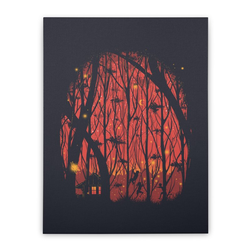 Fireflies Home Stretched Canvas by Robson Borges