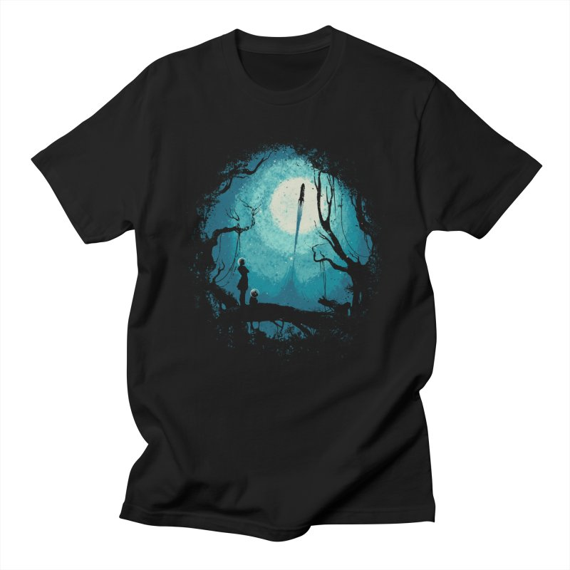 After Cosmic War II in Men's Regular T-Shirt Black by Robson Borges