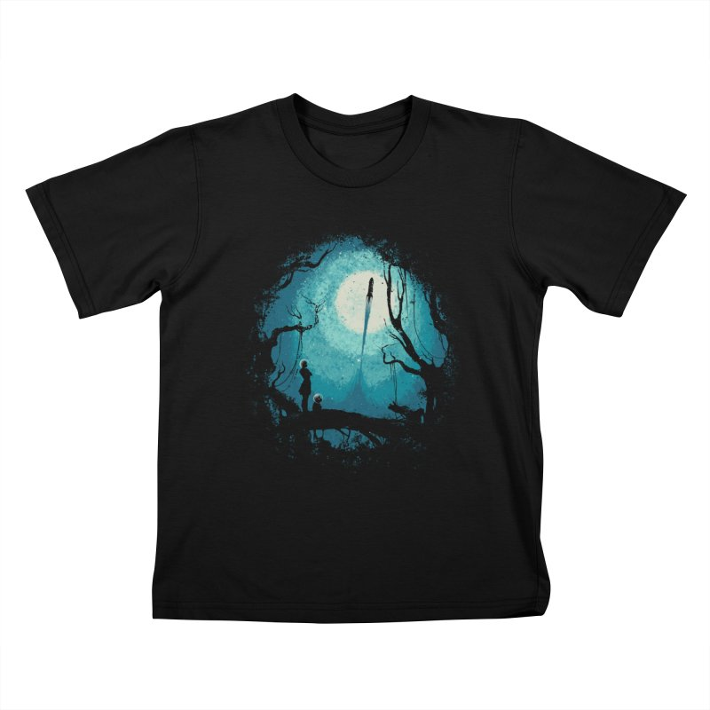 After Cosmic War II Kids T-Shirt by Robson Borges