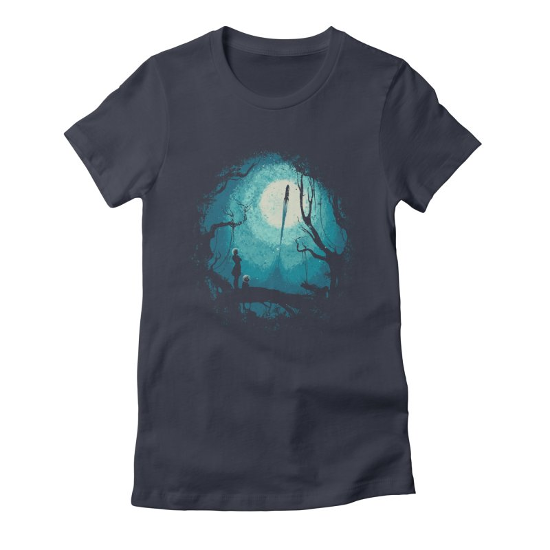After Cosmic War II Women's Fitted T-Shirt by Robson Borges