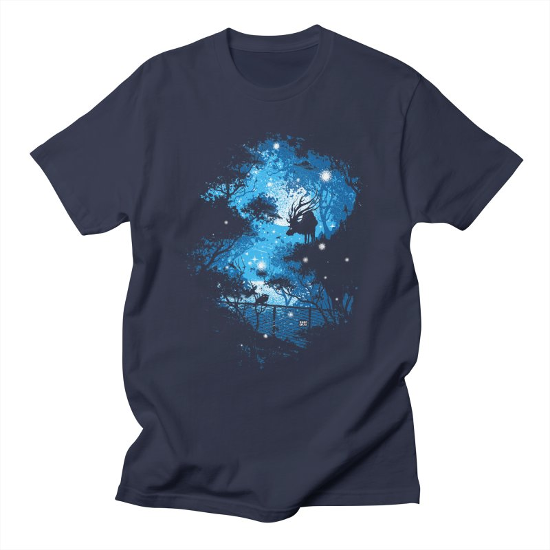 Moonlight  in Men's T-Shirt Navy by Robson Borges