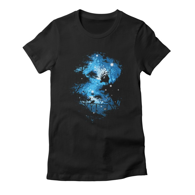 Moonlight  Women's Fitted T-Shirt by Robson Borges