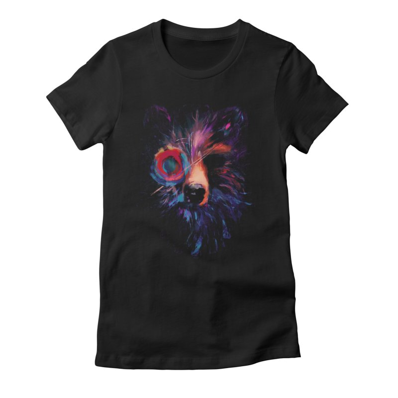 Darkling Women's Fitted T-Shirt by Robson Borges
