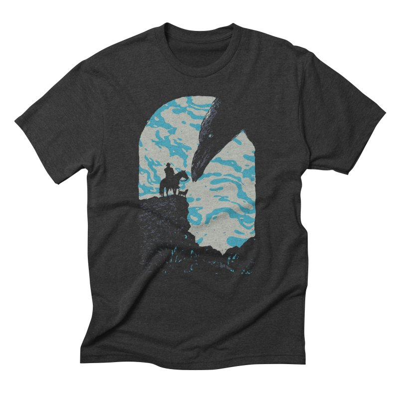 The Black Bird Men's Triblend T-Shirt by Robson Borges