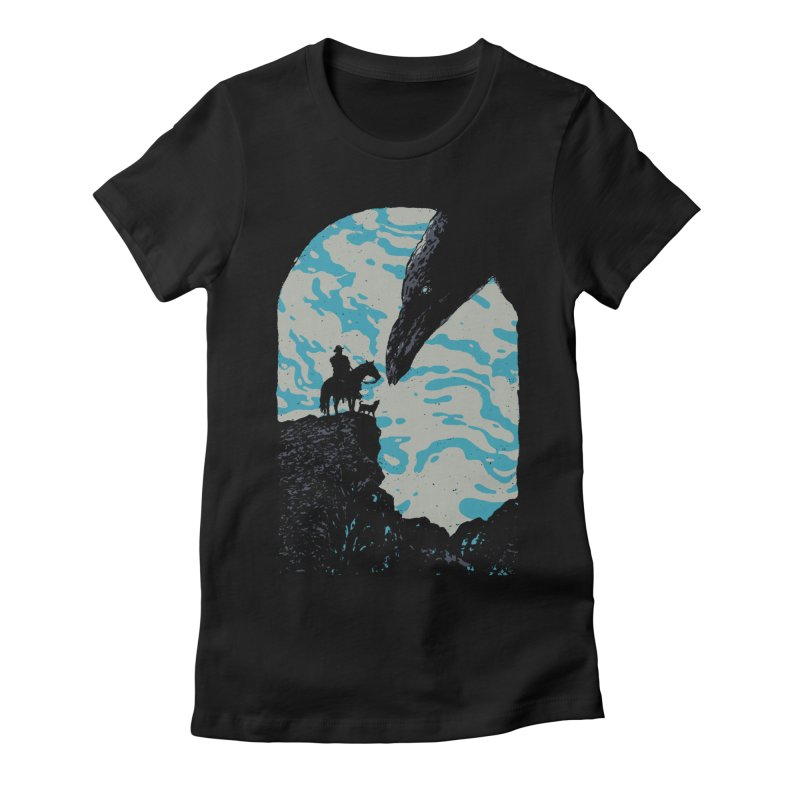 The Black Bird Women's Fitted T-Shirt by Robson Borges